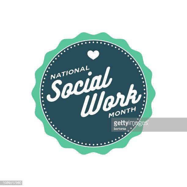 National Social Work Month Label