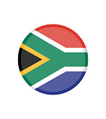 National South Africa flag, official colors and proportion correctly. National South Africa flag. Vector illustration. EPS10.