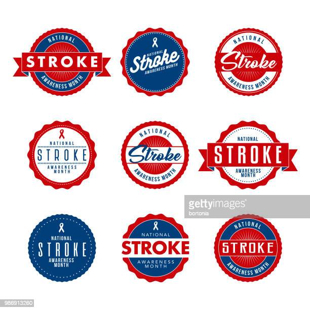 National Stroke Awareness Month Icon Set