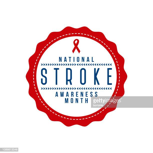 National Stroke Awareness Month Label