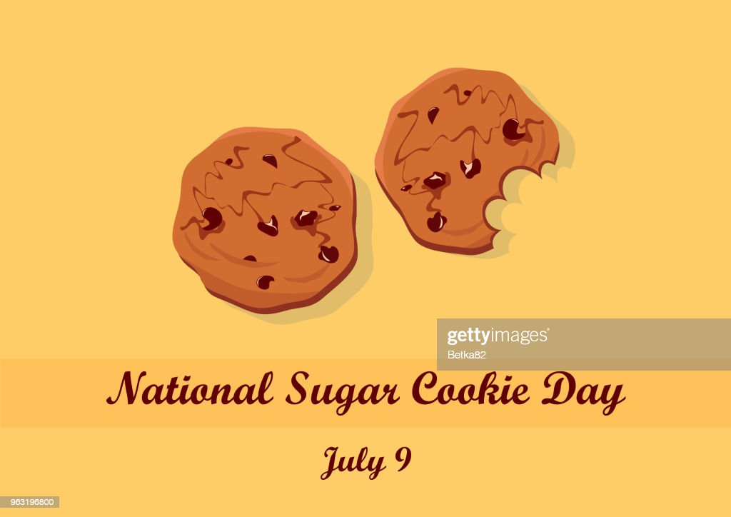 National Sugar Cookie Day vector