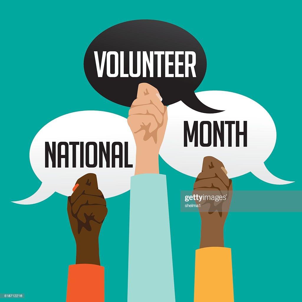 National volunteer month design.