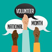 National volunteer month design.