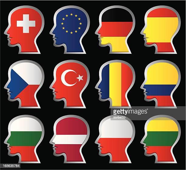 nationalität flagge - polnische flagge stock-grafiken, -clipart, -cartoons und -symbole