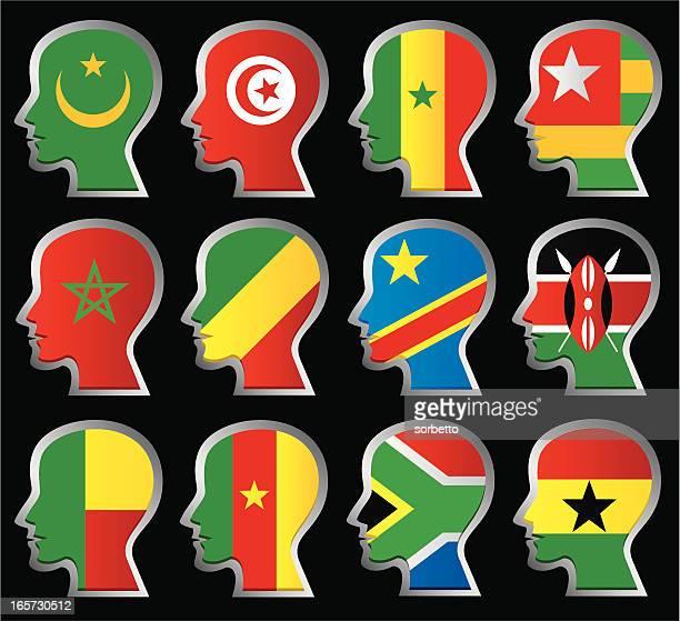nationality flag - ghana flag stock illustrations, clip art, cartoons, & icons