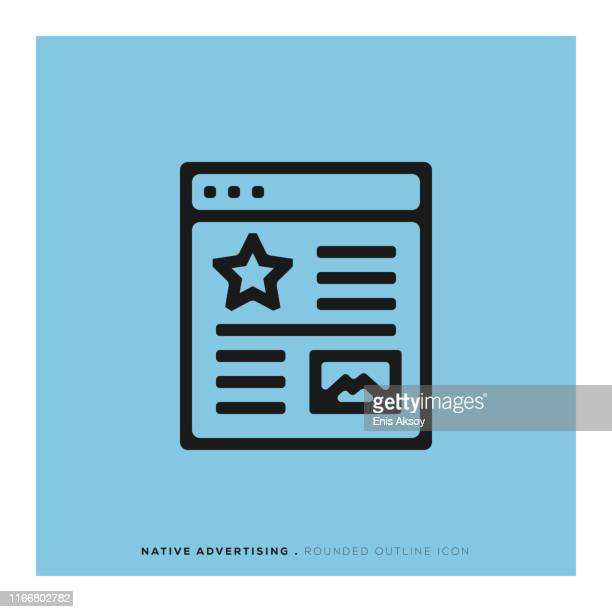 native advertising icon - publisher stock illustrations