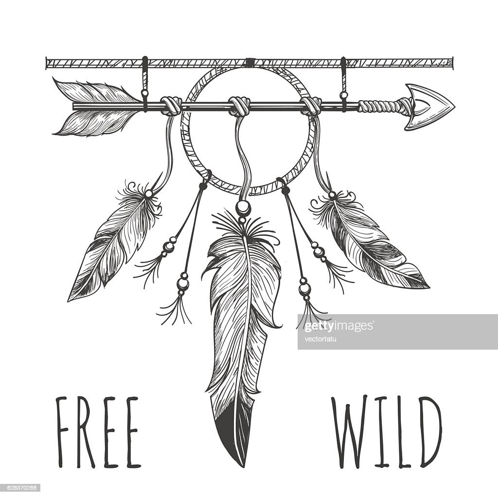 Native american accessory with arrow