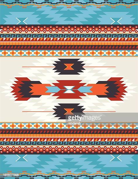 ilustrações, clipart, desenhos animados e ícones de nativos americanos, aztec, mayan padrão, tapete - índia