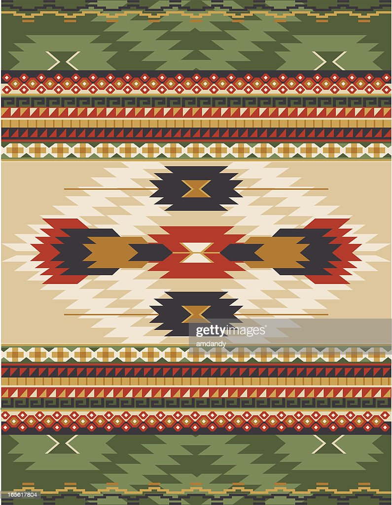 native american aztec mian pattern rug highres vector