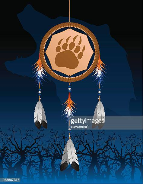 Native American Bear Paw Dream Catcher