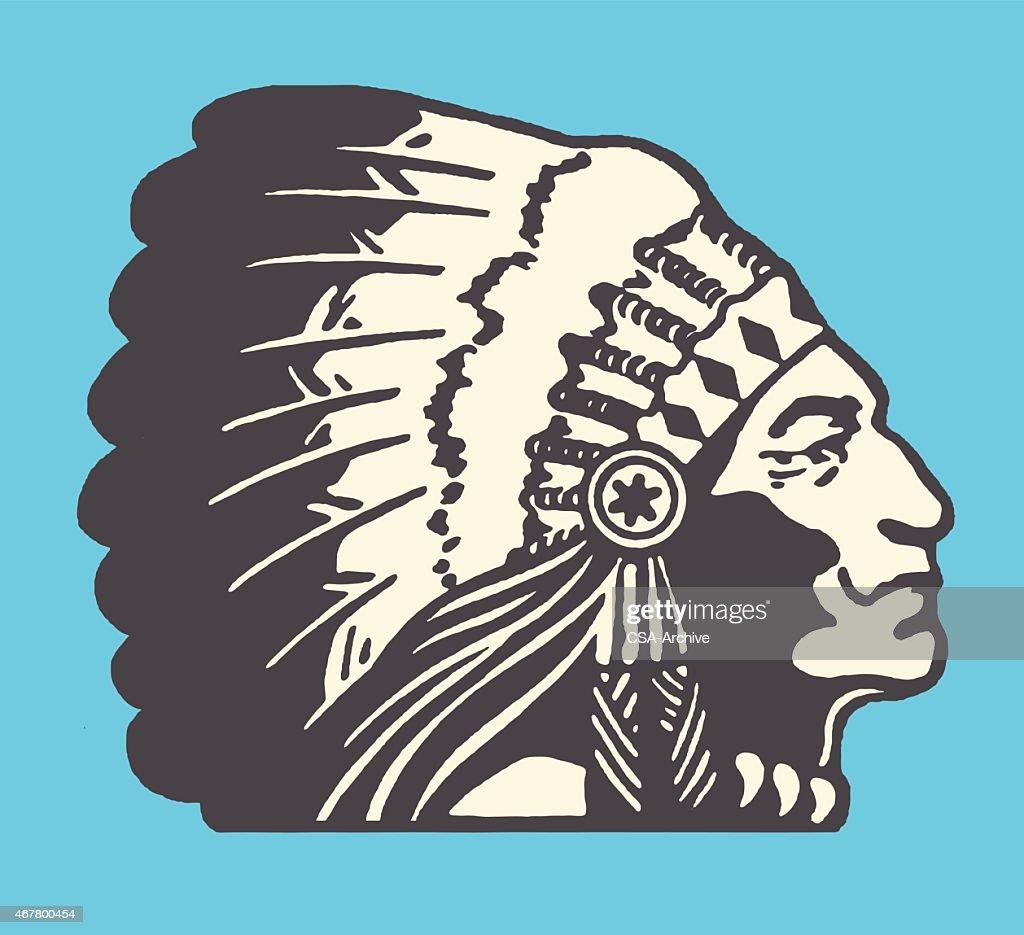 Native American Chief : stock illustration