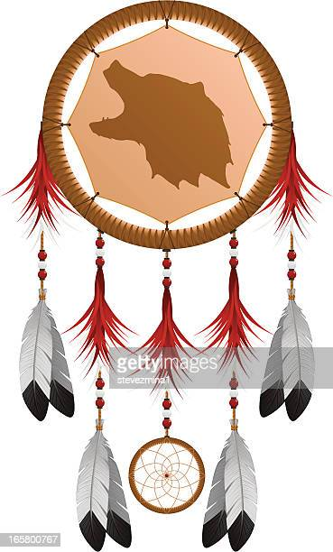 Native American Grizzly Bear Dream Catcher