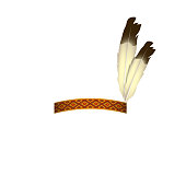 Native American headband with feathers - isolated vector illustration