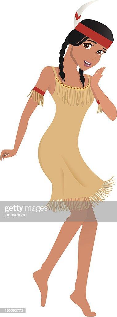 Native American / Indian Girl Dancer on Thanksgiving