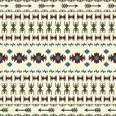 Native American Indian seamless pattern ethnic traditional geometric art with retro vintage vector design