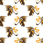 Native american indian seamless pattern