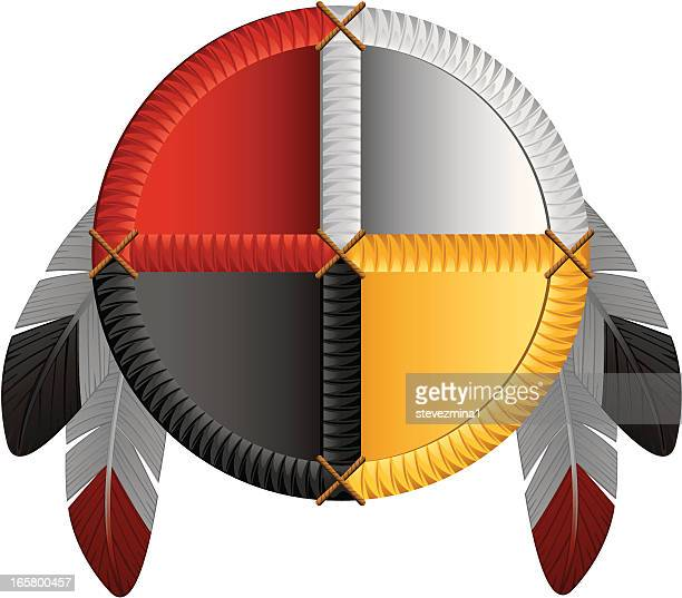 native american medicine wheel - indigenous north american culture stock illustrations, clip art, cartoons, & icons
