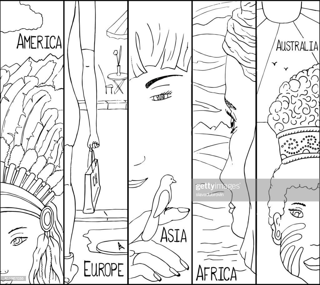 Malvorlage Kontinent Amerika  Coloring and Malvorlagan