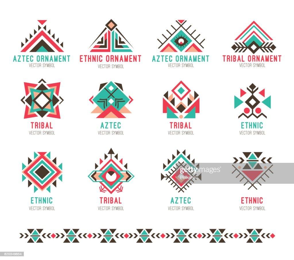 Native tribal pattern set
