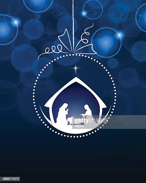 nativity bauble - star of bethlehem religious symbol stock illustrations, clip art, cartoons, & icons