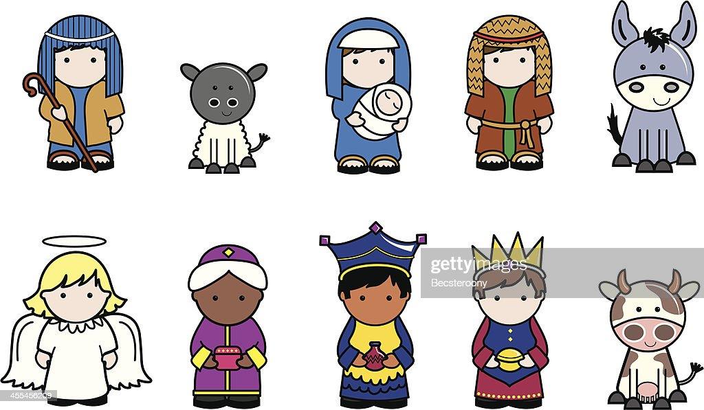 Nativity Christmas icons