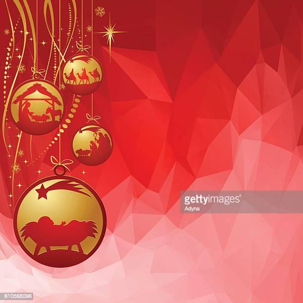 nativity ornament - star of bethlehem religious symbol stock illustrations, clip art, cartoons, & icons