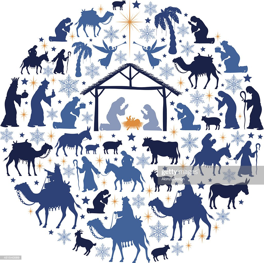 Nativity Scene Collage