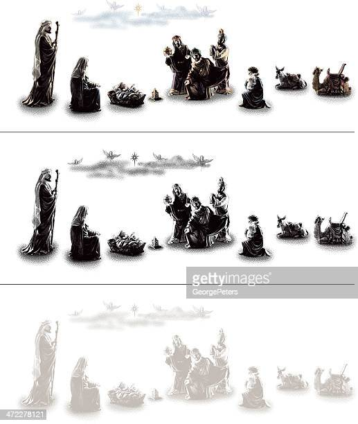 nativity scene design elements - jesus stock illustrations, clip art, cartoons, & icons