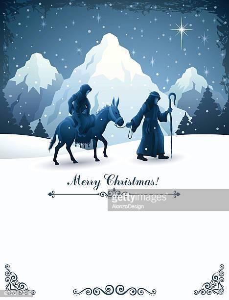 ilustraciones, imágenes clip art, dibujos animados e iconos de stock de natividad  - nacimiento de navidad