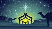Nativity Scene with Jesus, Mary and Joseph