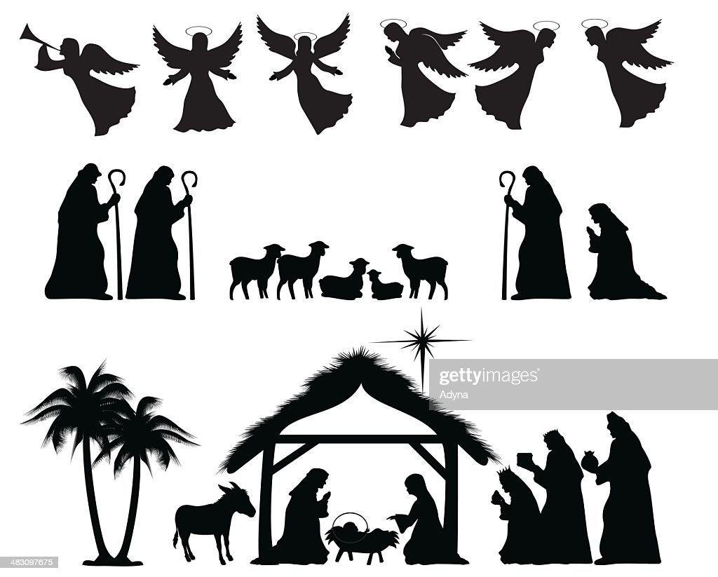 nativity silhouette vector art getty images French Revolution Clip Art Michelangelo Artist Printable