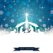 Nativity silhouette White