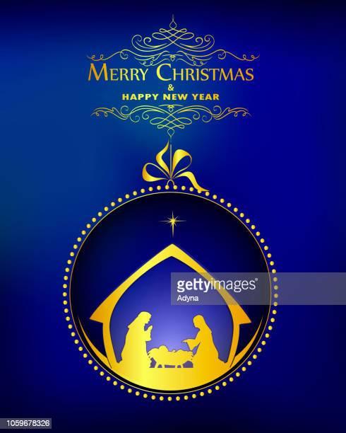 nativity - religious symbol stock illustrations