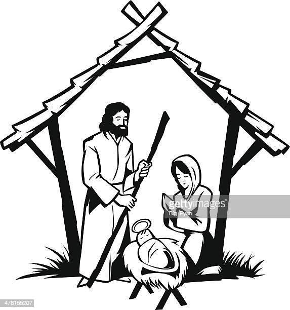 キリスト降誕 - 飼い葉桶点のイラスト素材/クリップアート素材/マンガ素材/アイコン素材