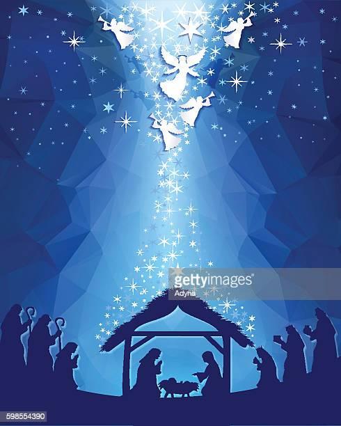 ilustraciones, imágenes clip art, dibujos animados e iconos de stock de nativity - nacimiento de navidad