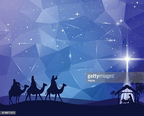ilustraciones, imágenes clip art, dibujos animados e iconos de stock de nativity - los tres reyes magos
