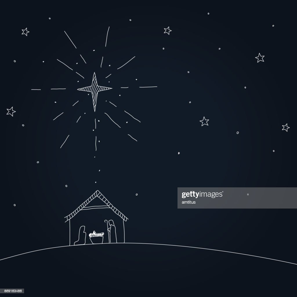 nativity : stock illustration