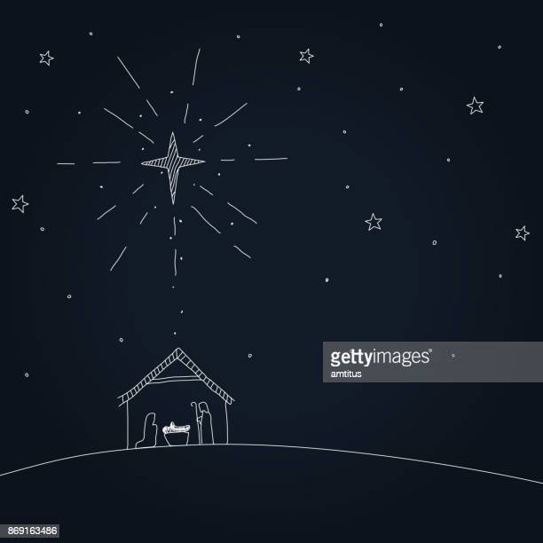 nativity - jesus christ stock illustrations, clip art, cartoons, & icons