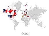 Nato on world map