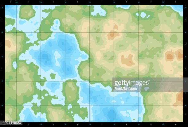 natural color generic topographic map 650 - generic location stock illustrations