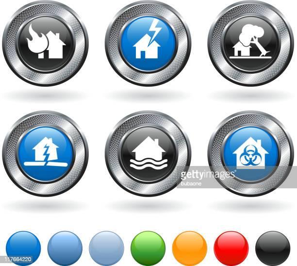 natural disaster royalty free vector icon set