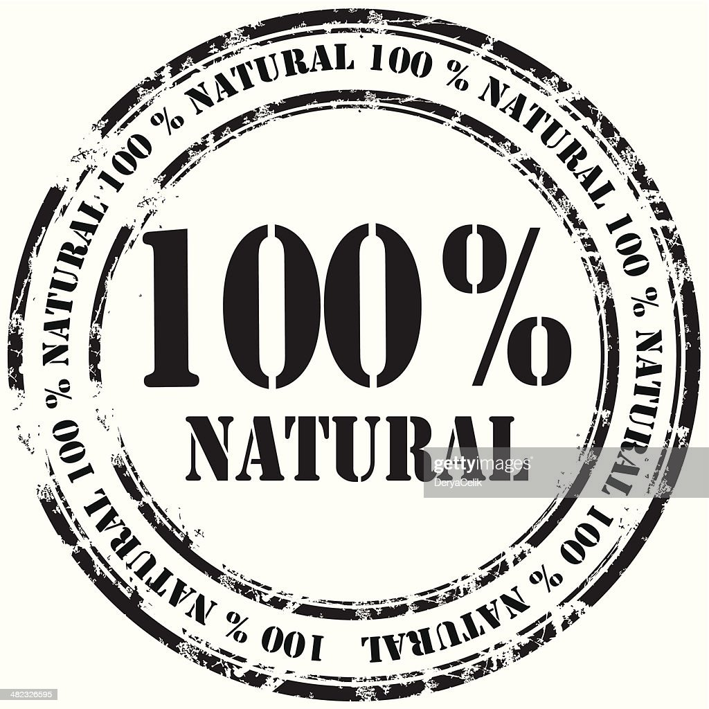 %100 natural grunge rubber stamp background