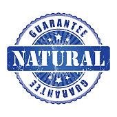 Natural  Guarantee Stamp.