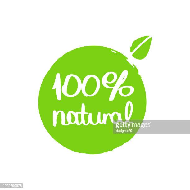 100% natural hand drawn icon vector design. - natural condition stock illustrations