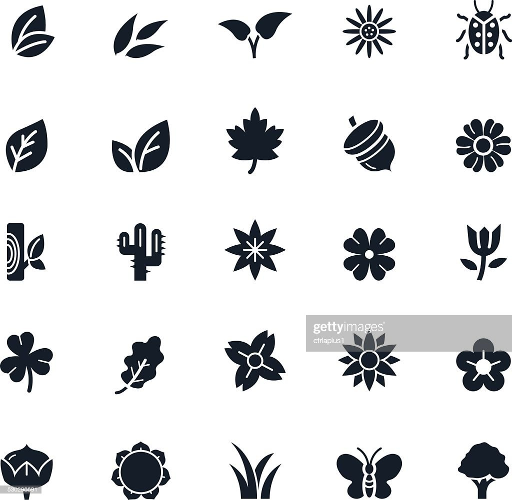 Natural Icons Vector Illustration