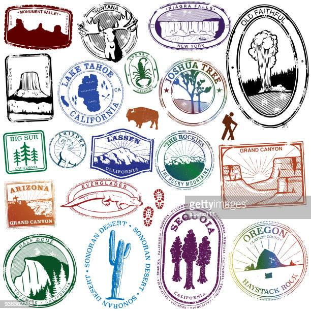 USA Natural Landmark Stamps