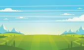 Natural landscape. Vector illustration.