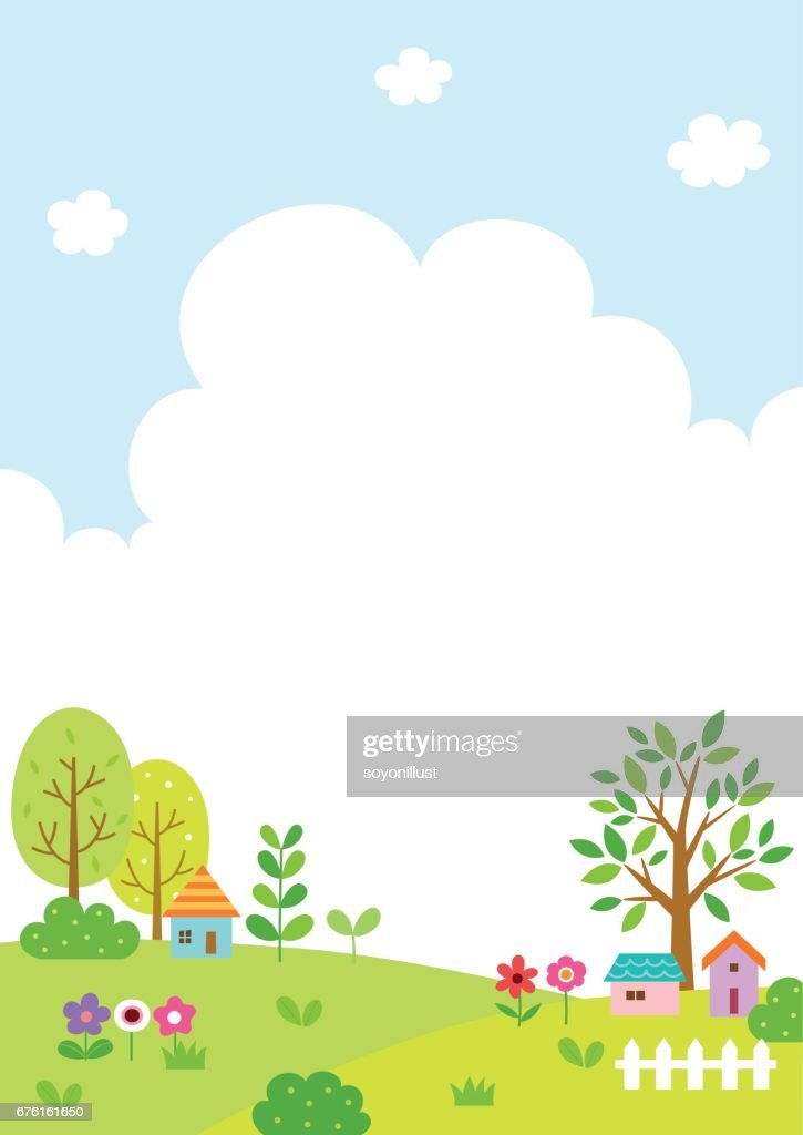 Natural landscape with cloud and sky background