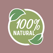 Natural product, Eco Healthy food, green Leaves circle icon/icon