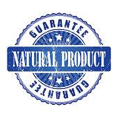 Natural Product  Guarantee Stamp.